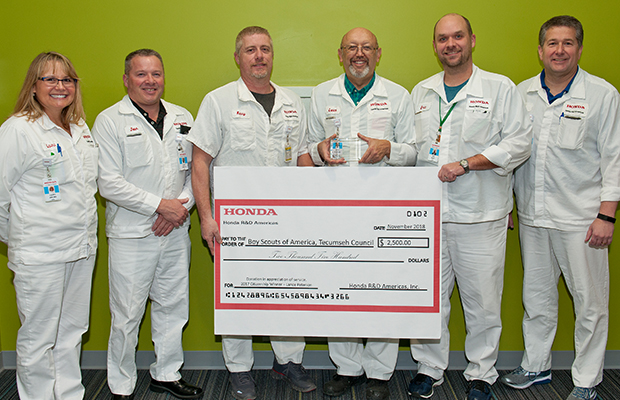 Honda R&D Americas Associate Honored for Community Service